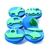 Knob Stamps (6) GROW Creative Crafts- BibiBuzz