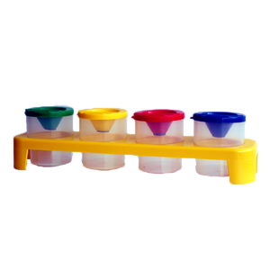 Non-Spill Paint Pots in Tray (4) GROW Creative Crafts- BibiBuzz