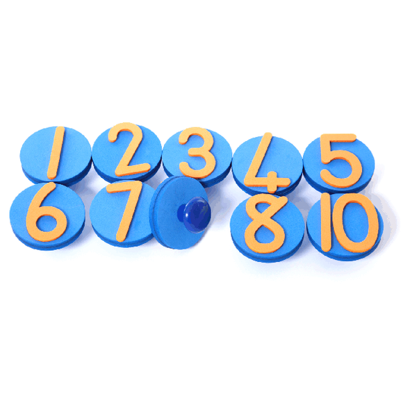 Knob Stamps - Numbers (10) GROW Creative Crafts- BibiBuzz