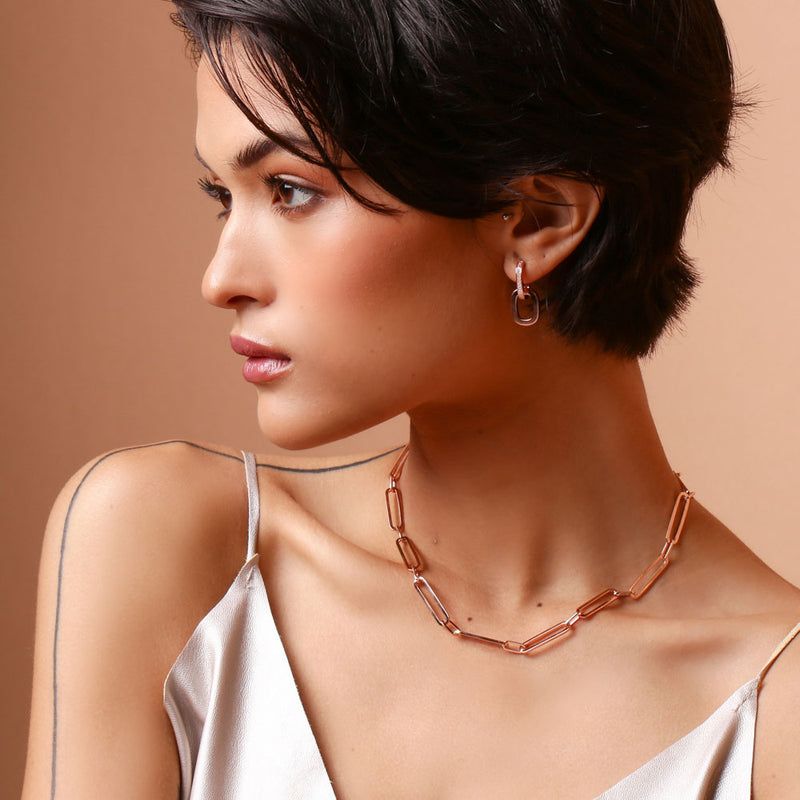 Chain Rose Gold Earring