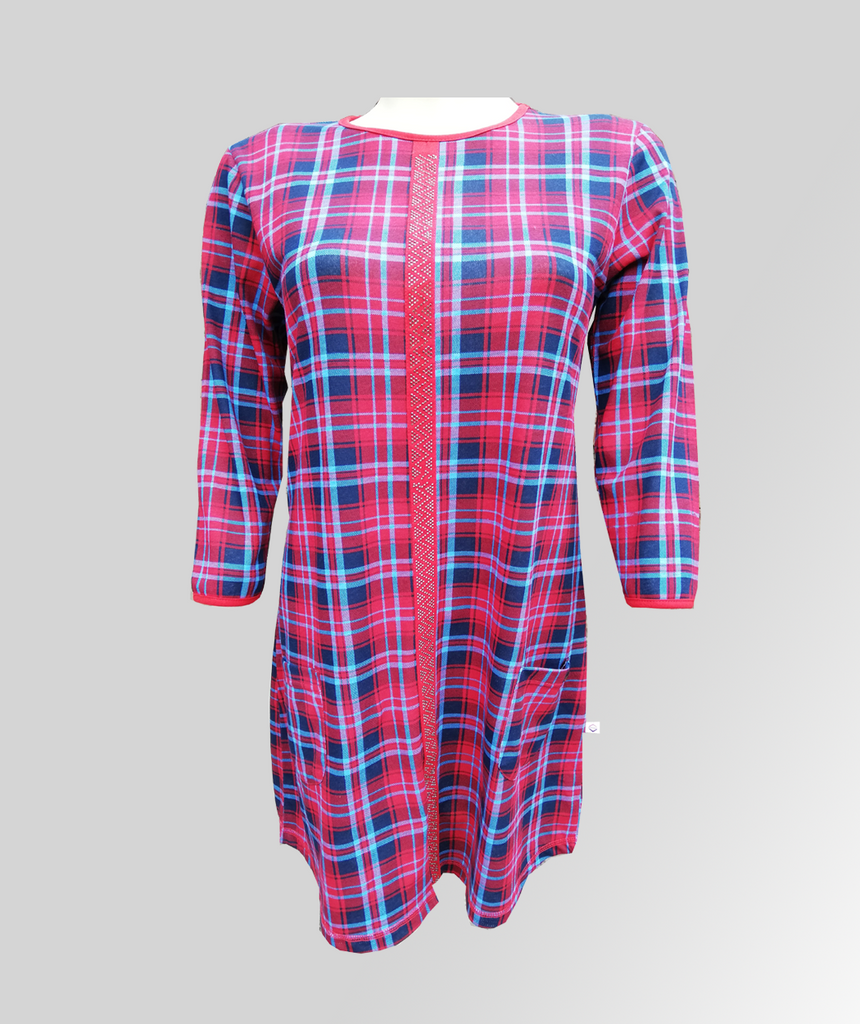 550fb91f704e Ladies/Girl Red Check Front Tap Frock – Sanco Club
