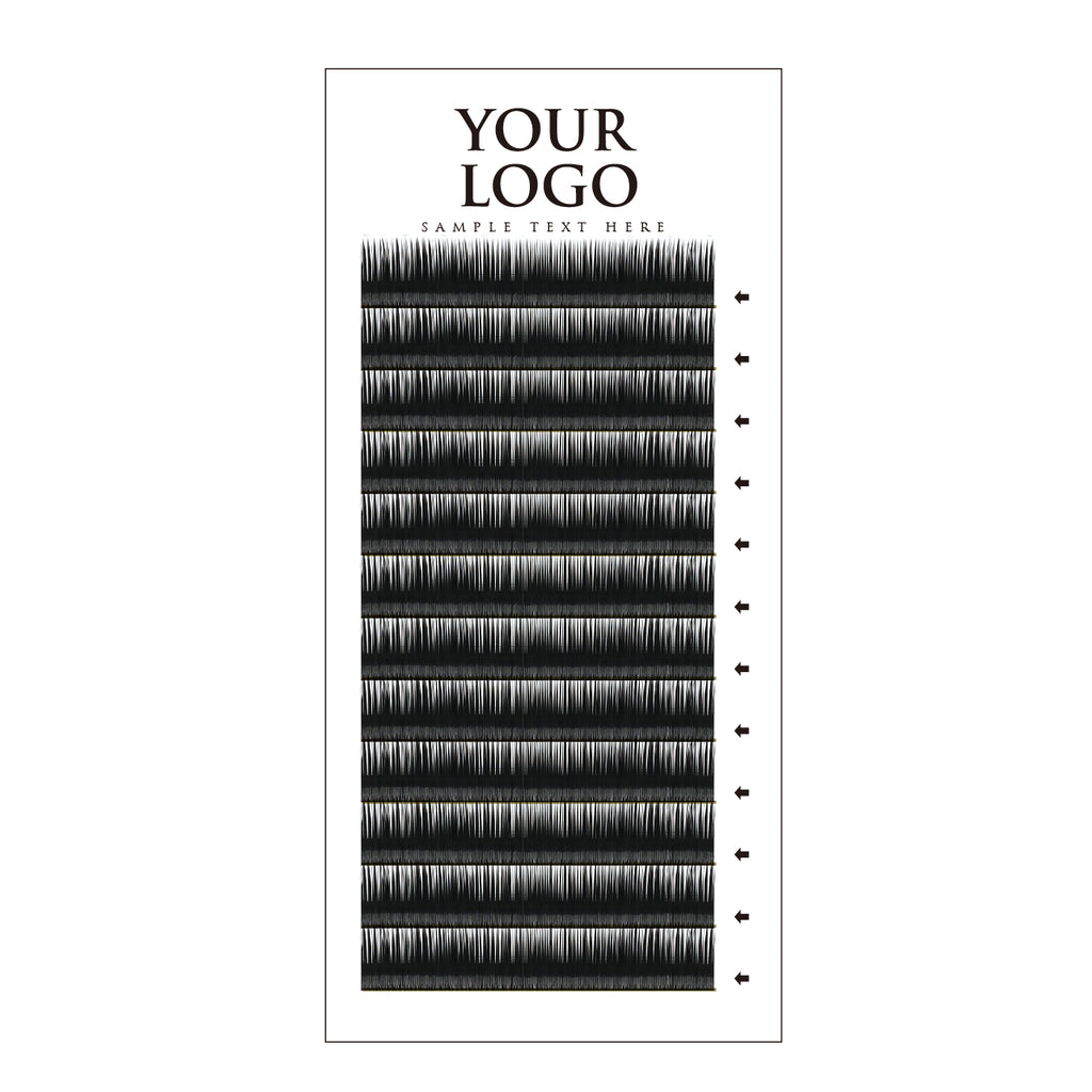 Matte Lash Vertical Tray-12rows - AG PRIVATE LABEL