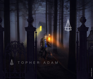 The story of Topher Adam and why he became a Haunted Mansion fan artist