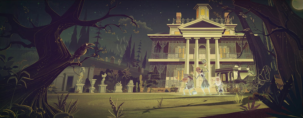 Haunted Mansion Disneyland Illustrations By Jame Gilleard
