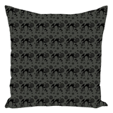 Black Cat Throw Pillows by Imafoolishmortal