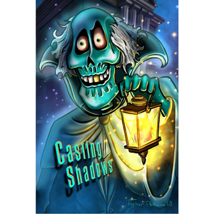 "Casting Shadows Illustration by Topher Adam 24"" x 36"" Posters"