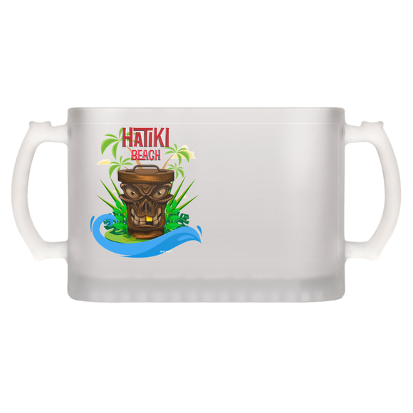 Hatiki Bech illustration by Topher Adam Beer Mugs
