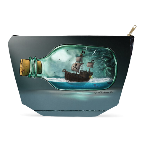 Shipwreck by Topher Adam Accessory Pouches