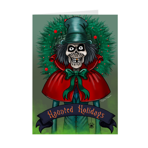 Haunted Halliday's, hope you don't lose your head. By Topher Adam  Folded Cards