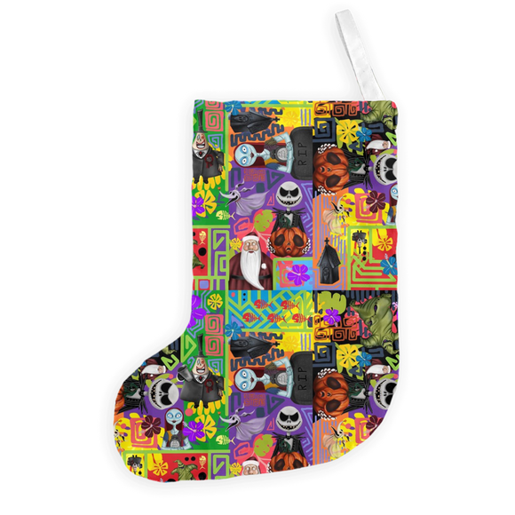 Nightmare Before Tiki by Topher Adam 2018 Christmas Stockings