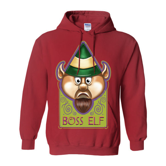 Boss Elf by Topher Adam 2018 Hoodies (No-Zip/Pullover)