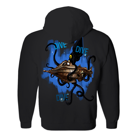 Dive, Dive, Dive, by Topher Adam 2018 Hoodies (No-Zip/Pullover)