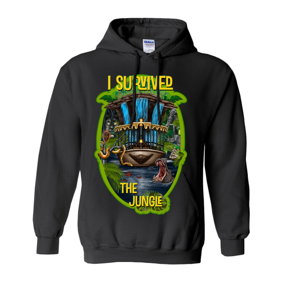 I Survived The Jungle by Topher Adam 2019 Hoodies (No-Zip/Pullover)
