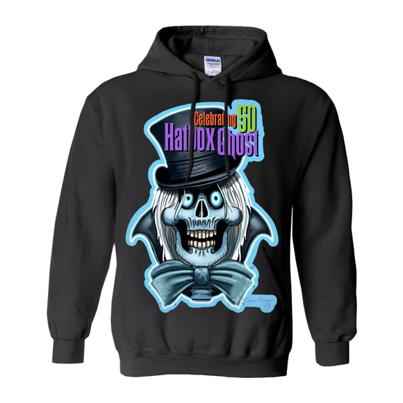 Celebrating 50, HatBox Ghost by Topher Adam 2019 Hoodies (No-Zip/Pullover)