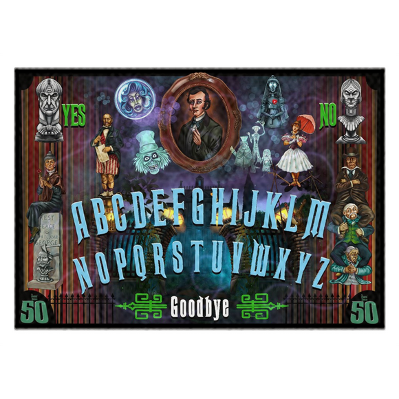 Haunted Mansion 50th Anniversary Ouija Rugs by Topher Adam 2019