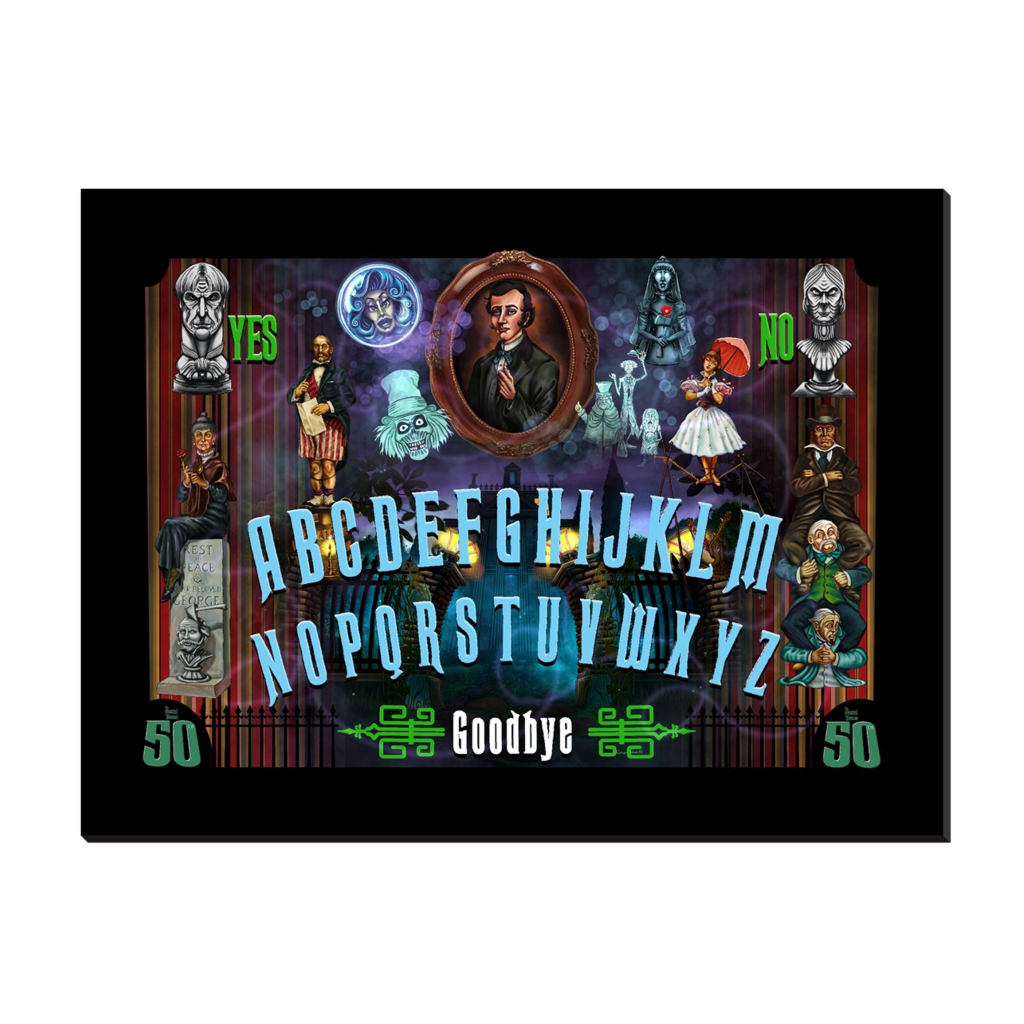 50th Haunted Mansion Ouija by Topher Adam Canvas Wraps