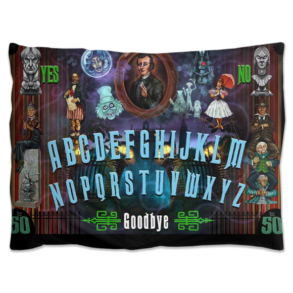 50th Haunted Mansion Ouija by Topher Adam Pillow Shams