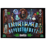 50th Haunted Mansion Ouija by Topher Adam Indoor/Outdoor Floor Mats