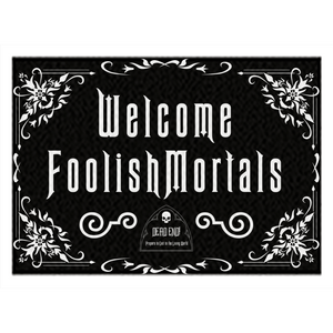 Welcome FoolishMortals Rugs by Topher Adam