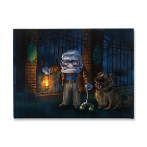 Carl and Dug's Haunted Mansion Adventures by Topher Adam 2017 Traditional Stretched Canvas