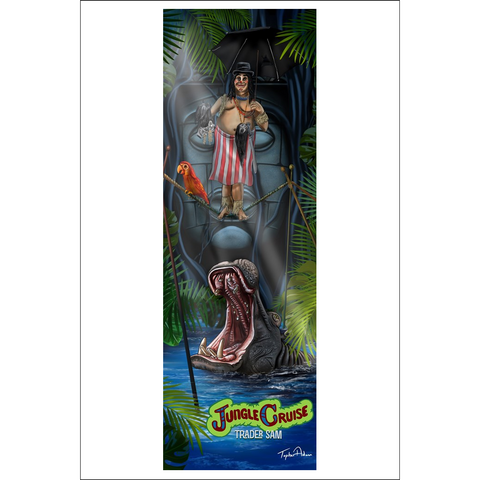 Jungle Cruise Trader Sam Tightrope Giclee Art Prints