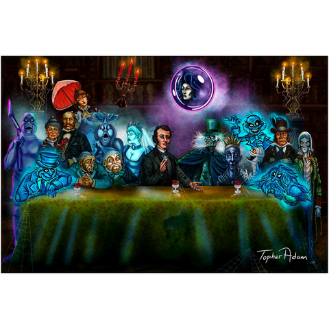 Mansions last supper Giclee Art Prints by Topher Adam