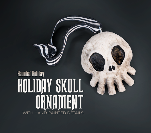 Haunted Mansion Miniature Hand Sculpted Skull Ornament