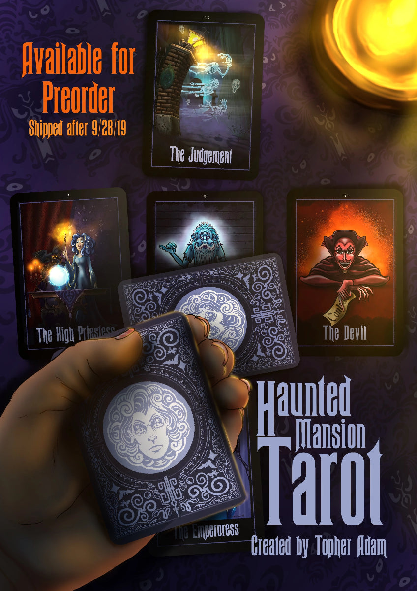 "Haunted Mansion ""Leota's Tarot Cards"" a Major Arcana deck by Topher Adam"