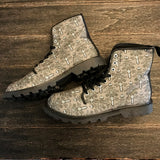 Haunted Eyetton Grey Martin Boots for Men Size 12