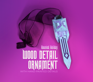 Haunted Mansion Wood Detail Holiday Ornament
