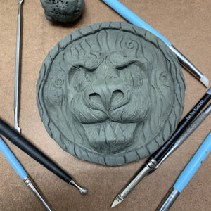 Corridor of doors Lion head medallion by Topher Adam