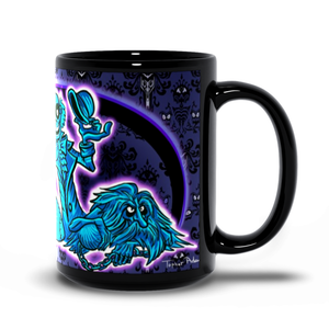 Hitchhiking Ghosts Black Mugs by Topher Adam