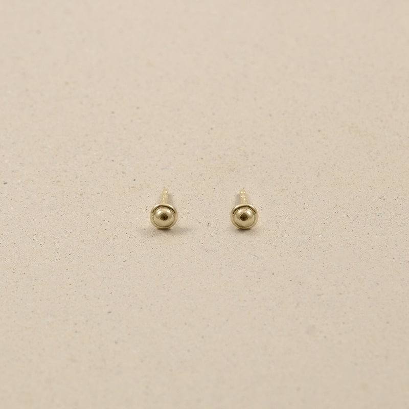 Fluid Stud Earrings 14ct Solid Gold