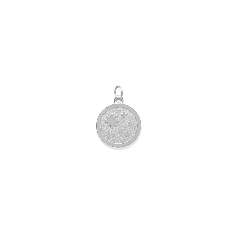 5 am Coin Anhänger Jewelry luise-liebt Rhodium Plated 925 Silver