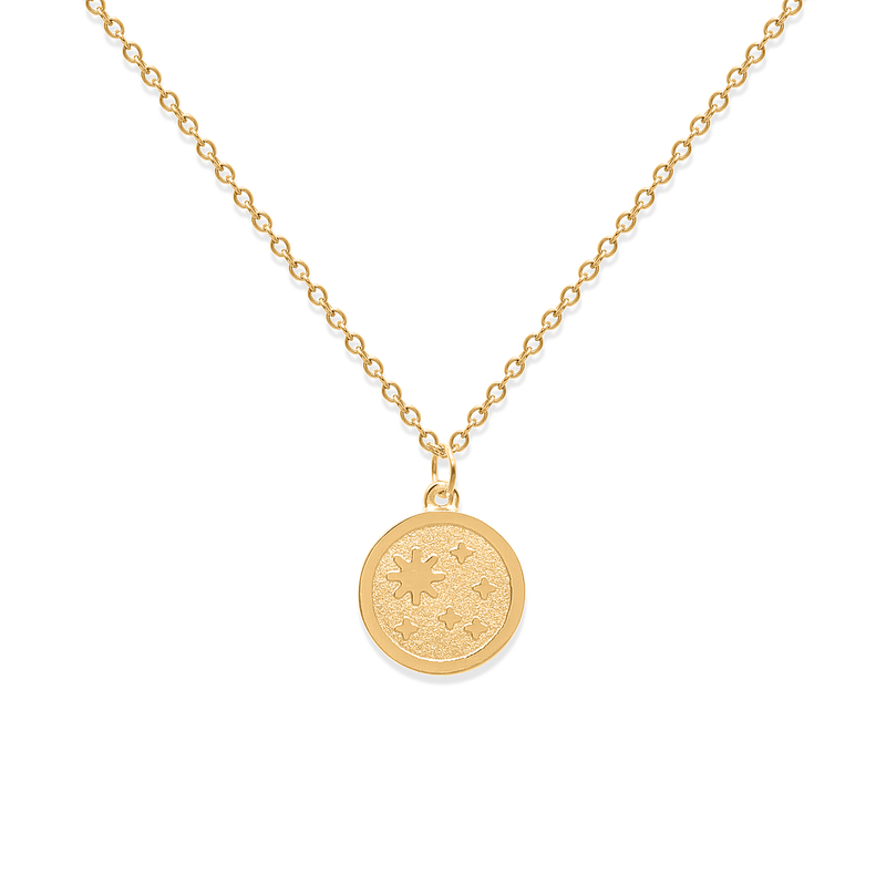 5 am Coin Kette Jewelry luise-liebt 24ct Gold Vermeil S (45cm)
