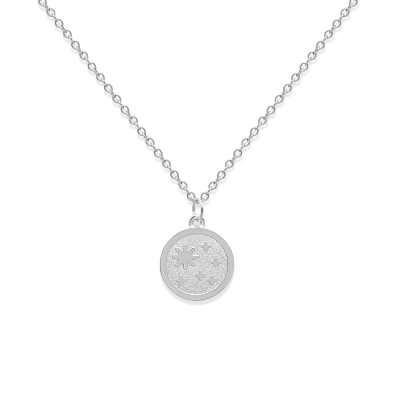 5 am Coin Kette Jewelry luise-liebt Rhodium Plated 925 Silver S (45cm)  variant