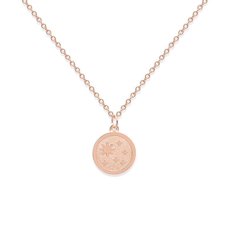 5 am Coin Kette Jewelry luise-liebt Rose Gold Vermeil S (45cm)  variant