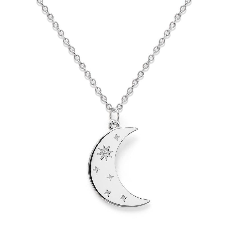5 am Kette Jewelry luise-liebt Rhodium Plated 925 Silver S (45cm)