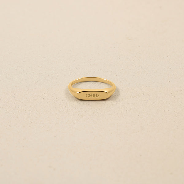 First Name Ring 14k Massivgold