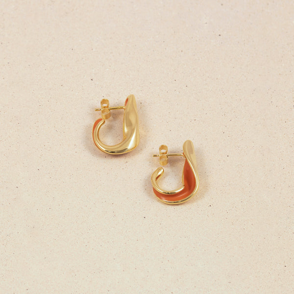Eden Paprika Hoop Earrings