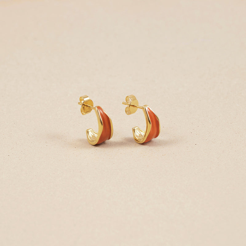 Eden Paprika Small Hoop Earrings