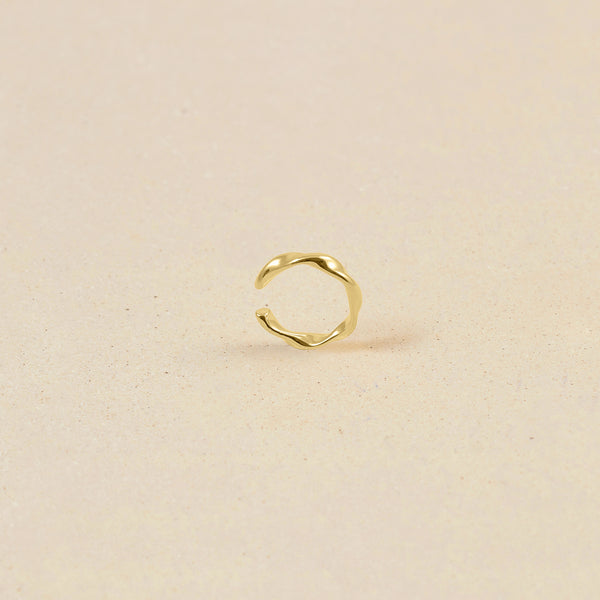 Flux Ear Cuff 14k Massivgold