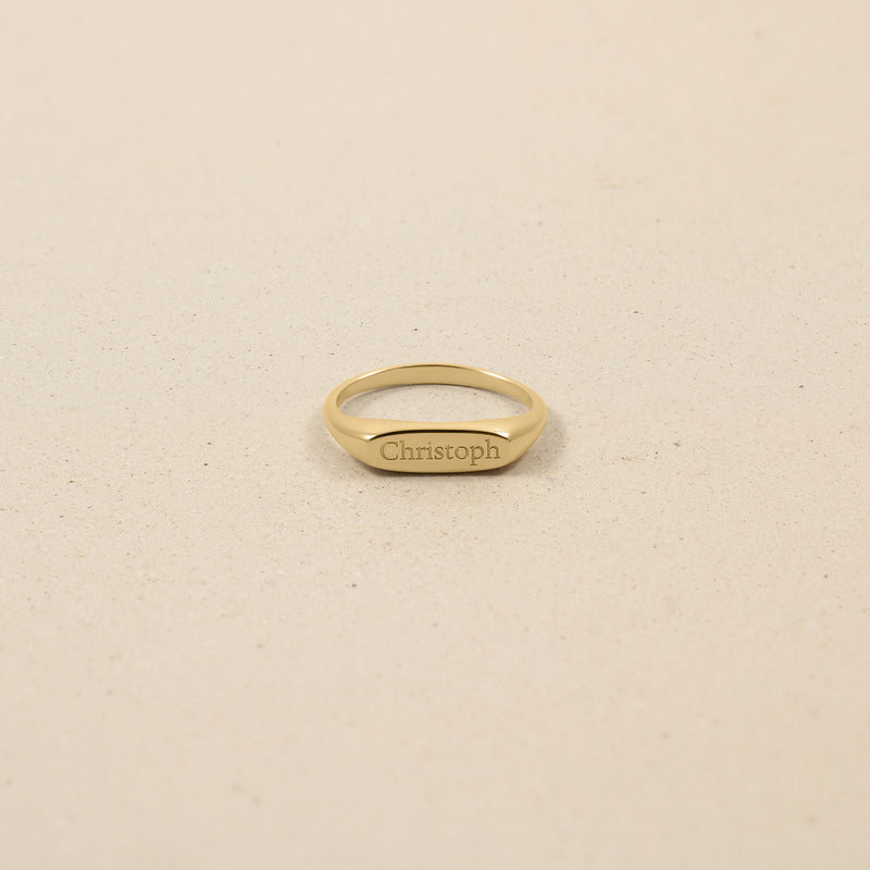 First Name Ring 14ct Solid Gold