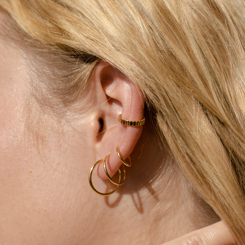 Ridged Ear Cuff and Ring Set