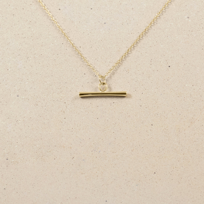 Bonds Path Bar Necklace - 14ct Solid Gold