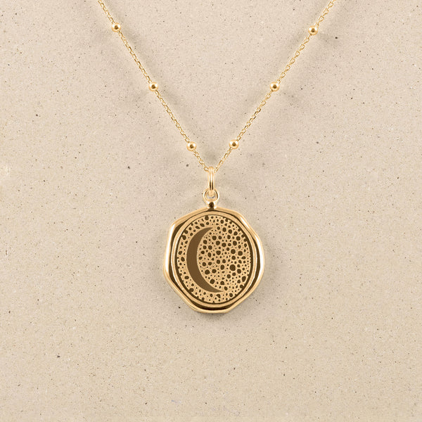 Moon Large Seal Necklace