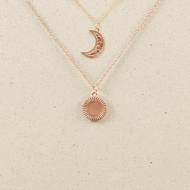 The Laura Moon + Sun Necklace Set