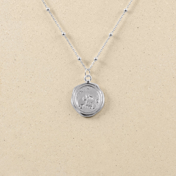 Zodiac Seal Satellite Necklace 925 Silver