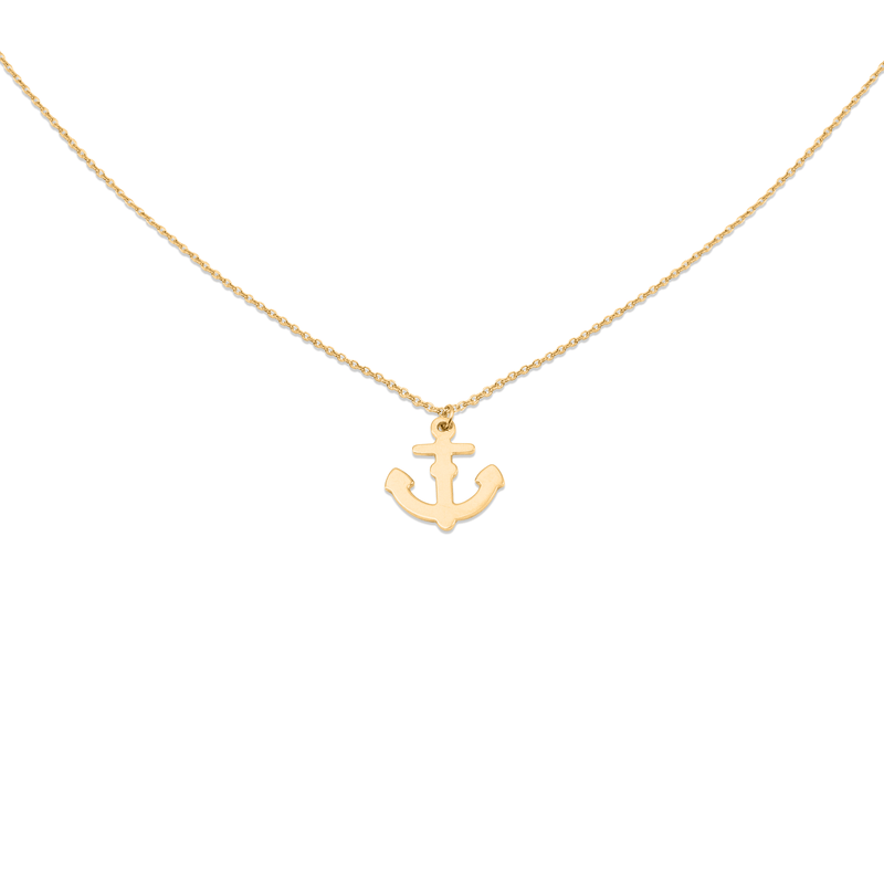 Anchor Kette Jewelry luisa-lion 925 Silver Gold Plated S (45cm)