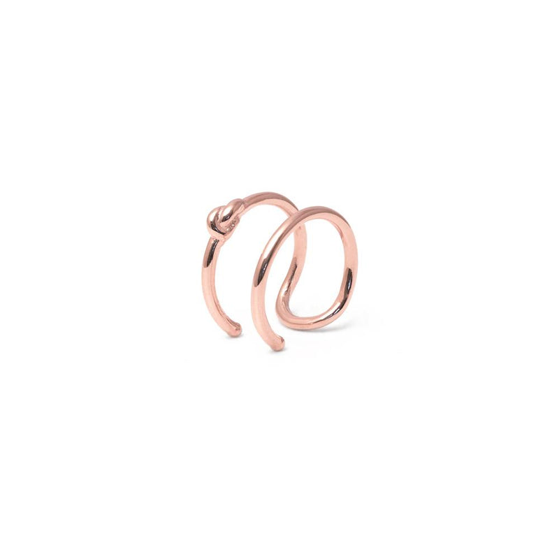 annalauraloves Knot Earcuff Jewelry anna-laura-kummer 925 Silver Rose Gold Plated